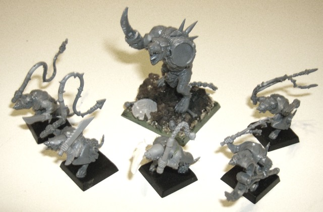 Skaven Rat Ogre WIP and Packmasters